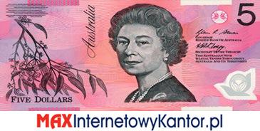 5 dolarów australijskich 1992 r. awers