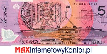 5 dolarów australijskich 1992 r. rewers