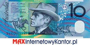 10 dolarów australijskich 1992 r. awers