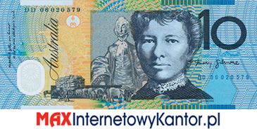 10 dolarów australijskich 1992 r. rewers