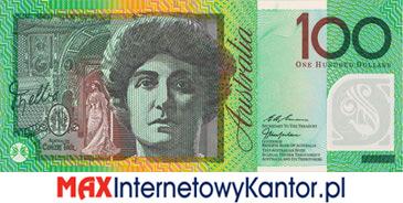 100 dolarów australijskich 1996 r. awers