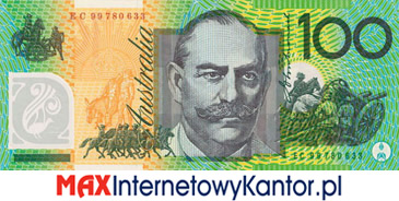 100 dolarów australijskich 1996 r. rewers