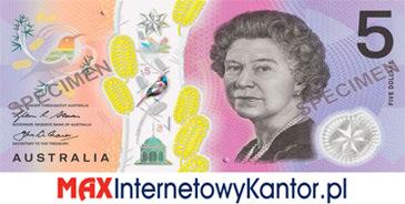 5 dolarów australijskich 2016 r. awers