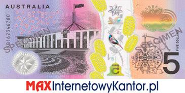 5 dolarów australijskich 2016 r. rewers