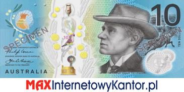 10 dolarów australijskich 2017 r. awers