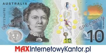 10 dolarów australijskich 2017 r. rewers