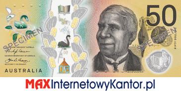 50 dolarów australijskich 2018 r. awers