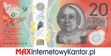 20 dolarów australijskich 2019 r. awers