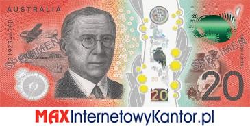20 dolarów australijskich 2019 r. rewers