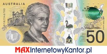 50 dolarów australijskich 2018 r. rewers