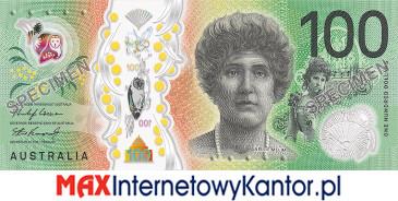 100 dolarów australijskich 2020 r. awers