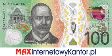 100 dolarów australijskich 2020 r. rewers