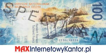 100 franków szwajcarskich 9 seria awers
