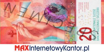 20 franków szwajcarskich 9 seria awers