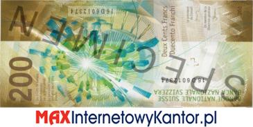 200 franków szwajcarskich 9 seria awers