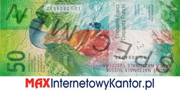 50 franków szwajcarskich 9 seria awers