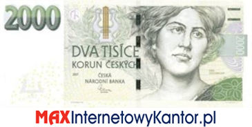 2000 koron czeskich 2007 wersja awers