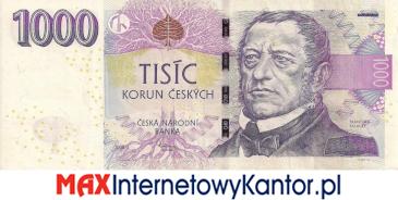 1000 koron czeskich 2009 wersja awers
