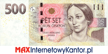 500 koron czeskich 2009 wersja awers