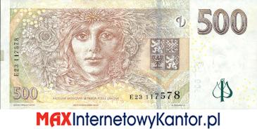 500 koron czeskich 2009 wersja rewers
