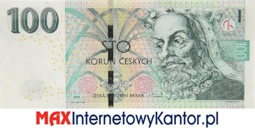 100 koron czeskich 2018 wersja awers