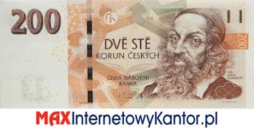 200 koron czeskich 2018 wersja awers