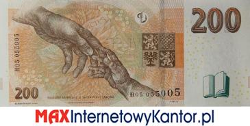 200 koron czeskich 2018 wersja rewers