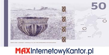 50 koron duńskich seria 2009 rewers