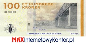 100 koron duńskich seria 2009 awers