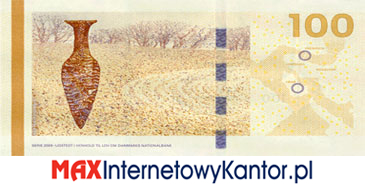 100 koron duńskich seria 2009 rewers