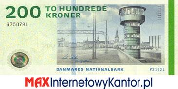 200 koron duńskich seria 2009 awers