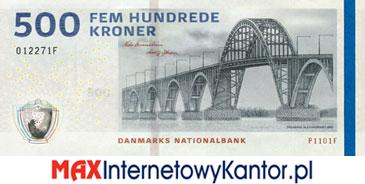 500 koron duńskich seria 2009 awers