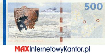 500 koron duńskich seria 2009 rewers