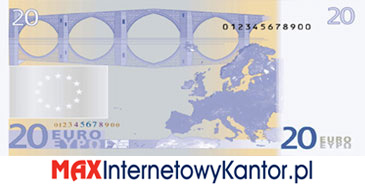 20 euro I seria rewers
