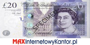 20 funtów brytyjskich 2007 r. awers