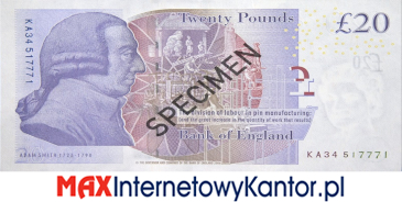 10 funtów brytyjskich 2007 r. awers