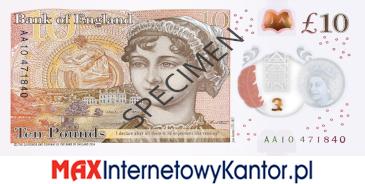 10 funtów brytyjskich 2017 r. awers