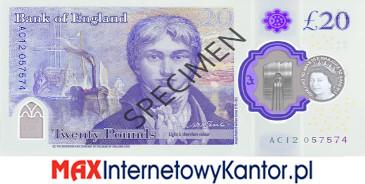 10 funtów brytyjskich 2020 r. awers