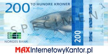 200 koron norweskich awers