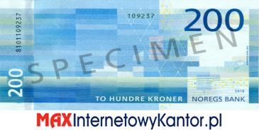 200 koron norweskich rewers