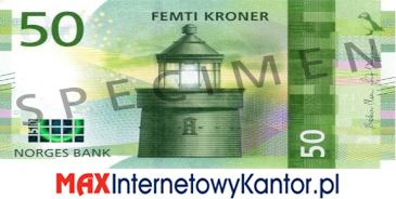 50 koron norweskich awers
