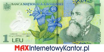 1 lej rumuński  2005 r. awers