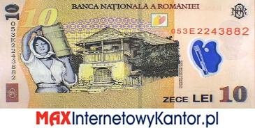 10 leji rumuńskich  2005 r. rewers