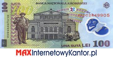 100 lei rumuński 2005 r. rewers