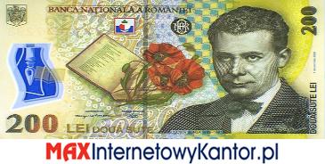 200 lei rumuński 2005 r. awers