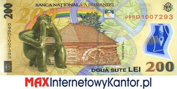200 lei rumuński 2005 r. rewers