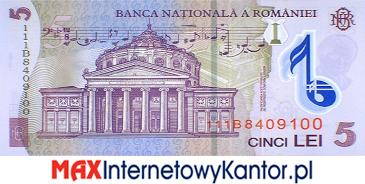 5 lei rumuńskich  2005 r. rewers