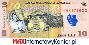 10 lei rumuńskich  2008 r. rewers