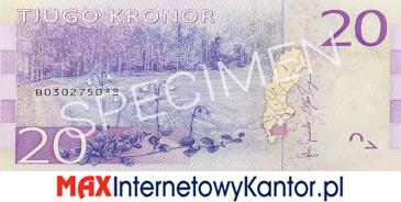 20 koron szwedzkich rewers