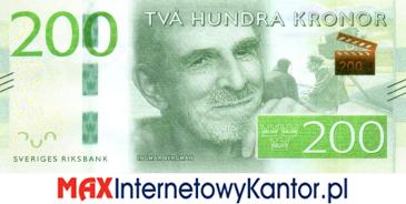 200 koron szwedzkich awers